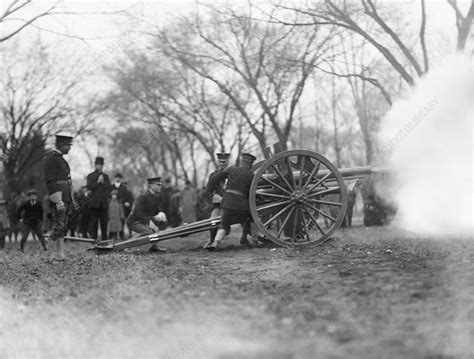 Cannon firing - Stock Image - C013/7417 - Science Photo ...