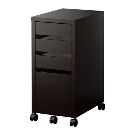 ikea micke bureau micke drawer unit drop file storage black brown ikea
