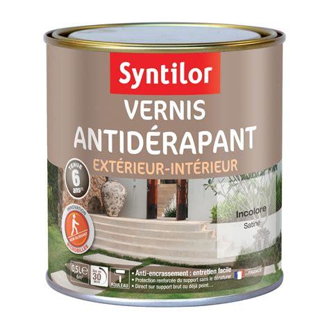 vernis antid 233 rapant sol ext 233 rieur int 233 rieur syntilor incolore 0 5 l leroy merlin