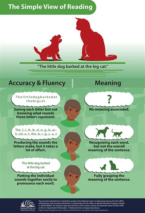 simple view  reading infographic  learning
