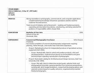 Sales Resume Objective Photographer Resume Template Photographer Resume