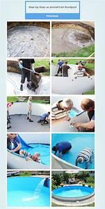Gartenpools Selber Bauen : stahlwand rundpool so einfach bauen sie ihren swimmingpool selbst pool bauen diy ~ Markanthonyermac.com Haus und Dekorationen
