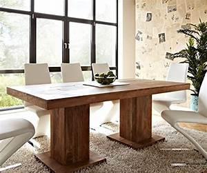 Beine Für Möbel : tisch akazie stone 200x100 cm massivholz beine durchstossen online kaufen bei woonio ~ Buech-reservation.com Haus und Dekorationen