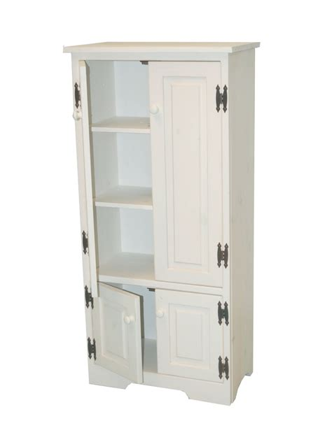 White Storage Cabinets With Doors And Shelves by White Wooden Storage Cabinet With Two Layer With Bigger