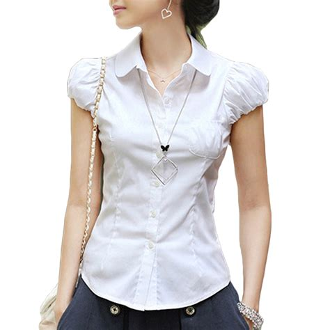 fitted blouses cap sleeve blouse summer fitted shirt casual womens