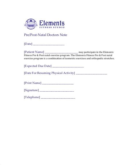 doctors note template   word  psd documents