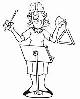 Coloring Triangle Instrument Cartoon Player Popular Sheet Library sketch template