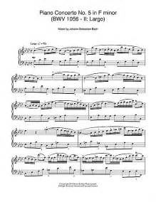 Partition piano bwv 1056