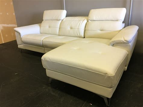 real leather electric power reclining sectional sofa