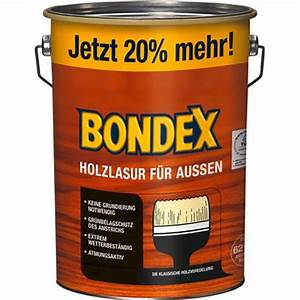 Holzlasur Farben Aussen : bondex holzlasur f r aussen teak 4 8 l kaufen bei obi ~ A.2002-acura-tl-radio.info Haus und Dekorationen