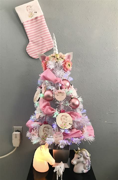 Unicorn Christmas Tree Christmas Navidad Decoracion