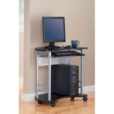 mainstays computer desk mainstays computer cart black and silver walmart