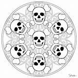 Mandala Coloring Skeleton Halloween Worksheets Crafts Preschool sketch template