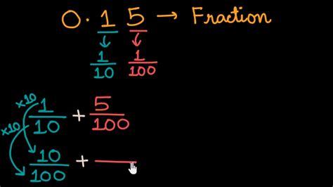 fraction   decimal khan academy