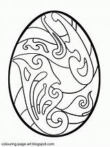 Easter Coloring Egg Pages Printable Eggs Patterns Colouring Popular Coloringhome sketch template