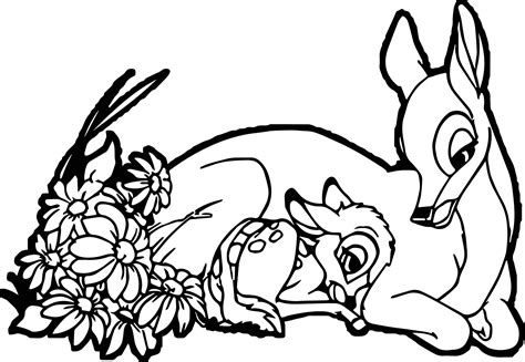 Bambis Mom Coloring Pages