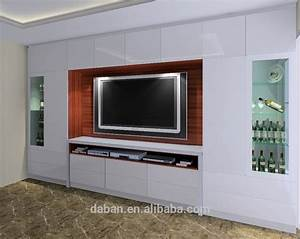 plywood mdf particle board tv cabinet design in living With living room tv cabinet designs