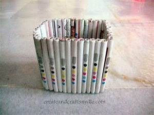 How to make a Multipurpose holder with Newspaper - Create