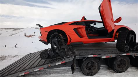Rapper flo rida dismissed money problems by wrapping his $1.7million bugatti veyron in garish gold. Lamborghini on Snow Tracks Is a World First, Also a Bad Idea - autoevolution