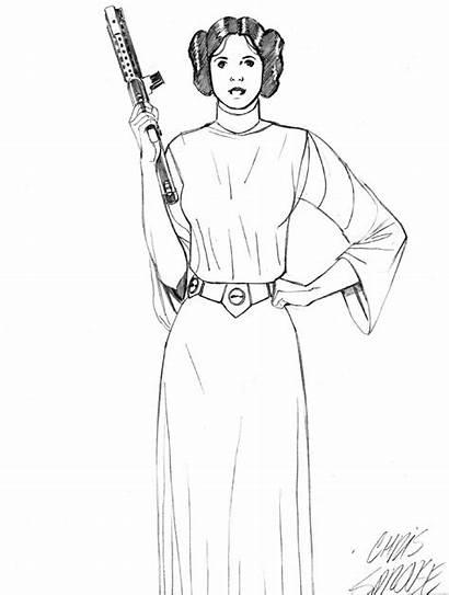 Leia Princess Coloring Wars Star Pages Printable
