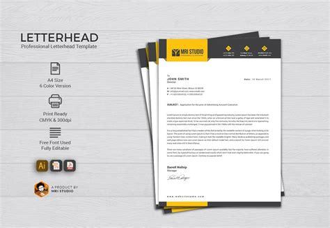 letterhead template stationery templates creative market