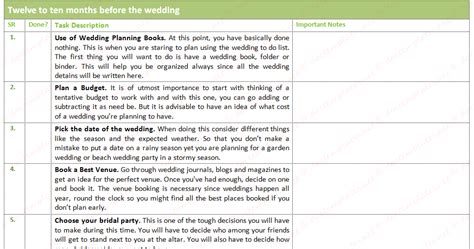 Best Wedding To Do List (with