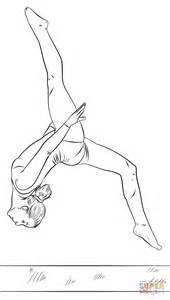 disegni di ginnastica artistica da colorare disegno di ginnasta sulla trave da colorare disegni da