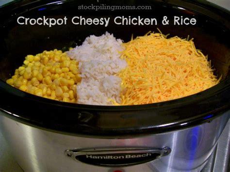 crock pot chicken and rice crockpot cheesy chicken rice