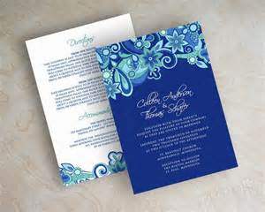 blue wedding invitations free royal blue wedding invitation designs wedding invitation sle