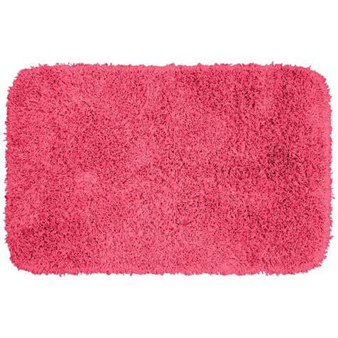 pink bathroom rugs garland rug jazz pink 24 in x 40 in washable bathroom