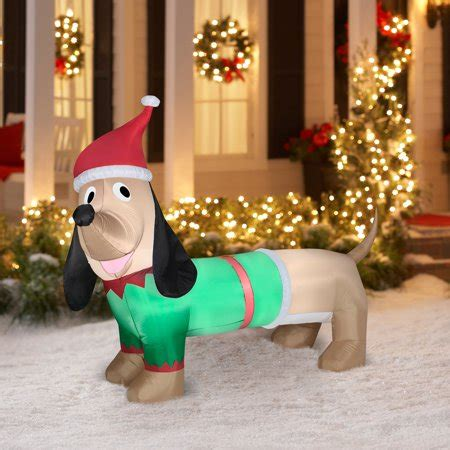 airblown inflatable  dachshund christmas prop walmartcom