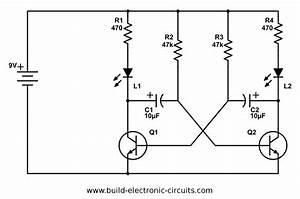 Simple Circuit Diagram Flashing Led