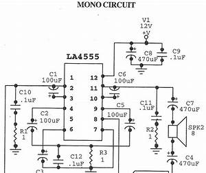 world technical audio amplifier la4555 With 22w mono amplifier circuit diagram