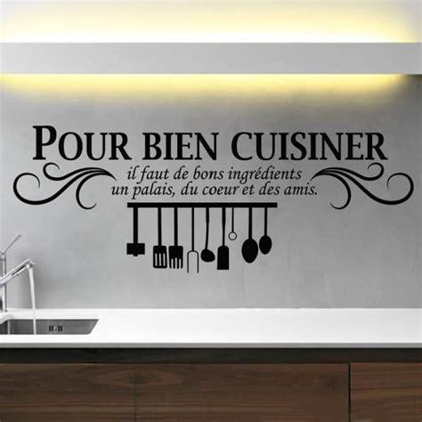 dicton cuisine noir créative stickers muraux pour cuisine décoration à la