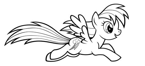 rainbow dash coloring page clipart panda  clipart