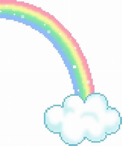 Kawaii Rainbow Aesthetic Gifs Pixel Pixels Pink