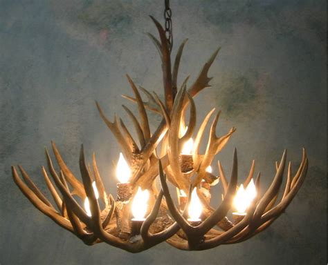 hton bay 5 light antler hanging chandelier