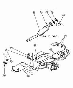 1997 Chrysler Sebring Gasket  Crossover Pipe  Crossunder
