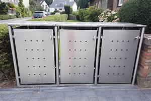Mülltonnenbox Mit Paketbox : m lltonnenbox edelstahl mit rundpfosten rostfreier edelstahl v2a ~ Sanjose-hotels-ca.com Haus und Dekorationen