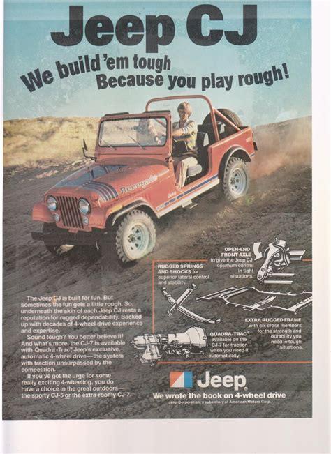 jeep print ads 1978 jeep cj truck magazine advertisement this is an