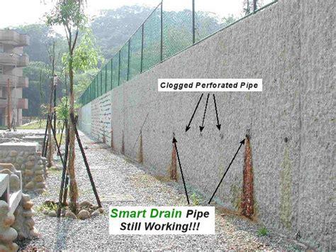 retaining wall water drainage smart drain retaining walls