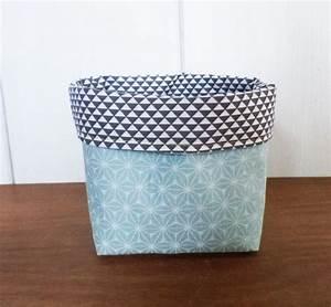 Panier Rangement Bébé Tissu : pochon panier de rangement carr tissus motifs ~ Dailycaller-alerts.com Idées de Décoration