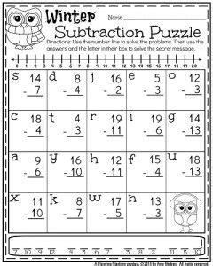 1st grade worksheets for january worksheets math and