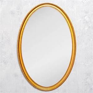 Spiegel Oval Antik : spiegel nerina 90x60cm gold antik oval 6682 ~ Frokenaadalensverden.com Haus und Dekorationen