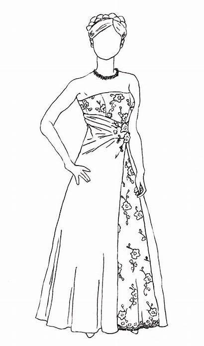 Drawing Ball Gowns Nightmare Thimble Alterations Yesterday