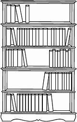 Bookshelf Bibliotecas Desenhos Livraria Provas Coloratutto sketch template