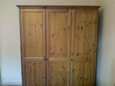 Ikea Leksvik Triple (3-door) Pine Wardrobe