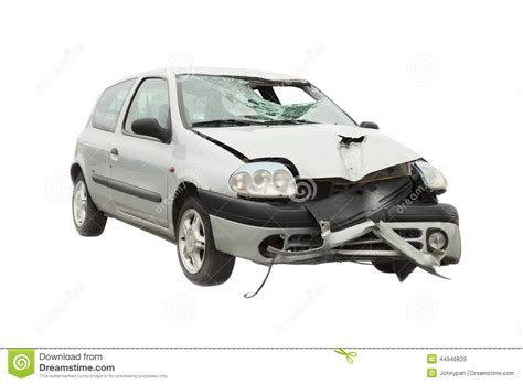 animated wrecked wrecked car accident stock photo image 44946829
