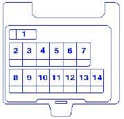 volvo v 40 2003 compartment fuse box block circuit breaker