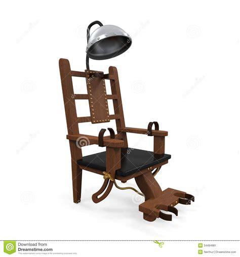 chaise de electrique chaise électrique d 39 isolement image stock image 34494981